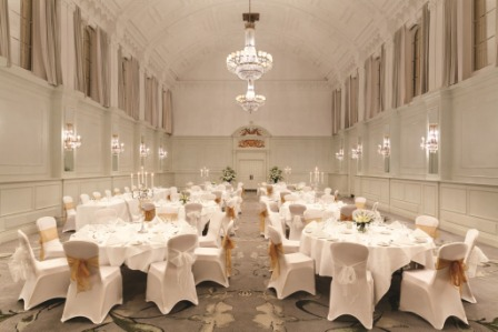 Hilton Brighton Metropole Venue Hire BN1,grand ballroom set up for dinner