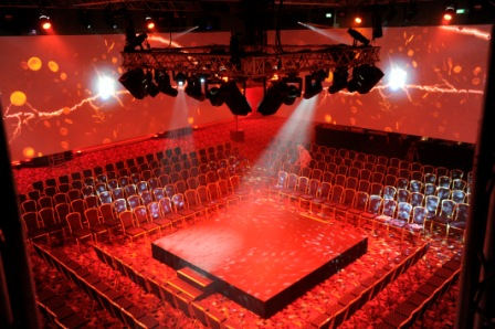 Hilton Brighton Metropole Venue Hire BN1, very large conference centre room with theatre style chairs