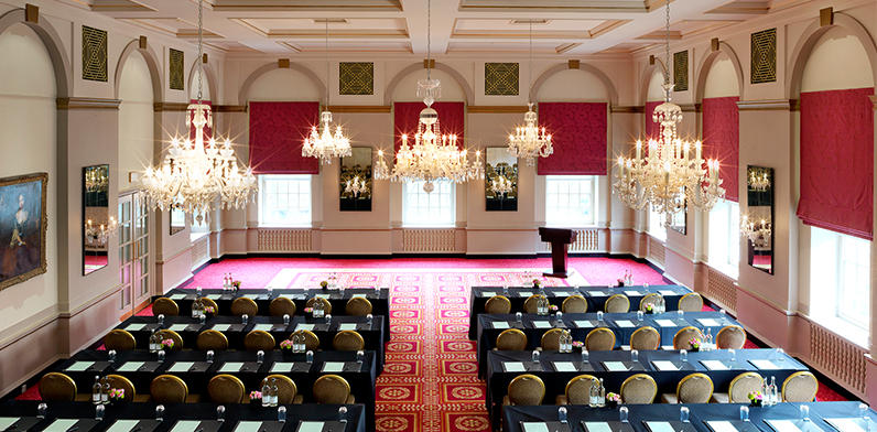 Theatre style layout in the Queen Mary Bloomsbury Hotel London