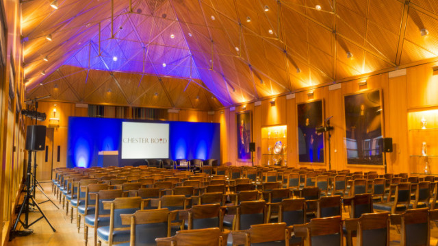 Theatre style layout Haberdashers' Hall Venue Hire EC1