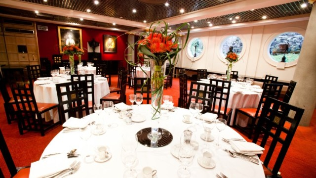 Livery Hall dressed in white linen for dinner party Founder's Hall Venue Hire EC1