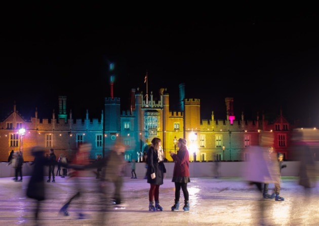 Hampton Court Palace Christmas Party KT8, outside ice skating rink