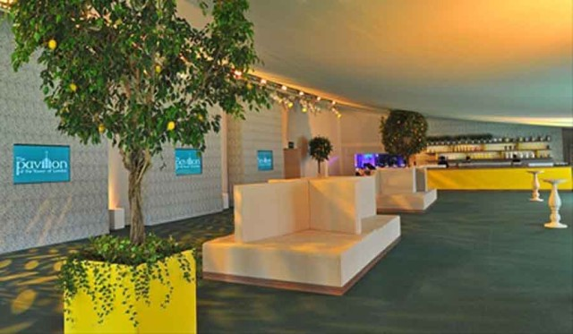Pavilion at the Tower of London Summer Party EC3, stunning open plan reception area