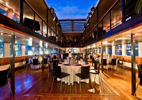 Bateaux London Venue Hire WC2, set up for private dining