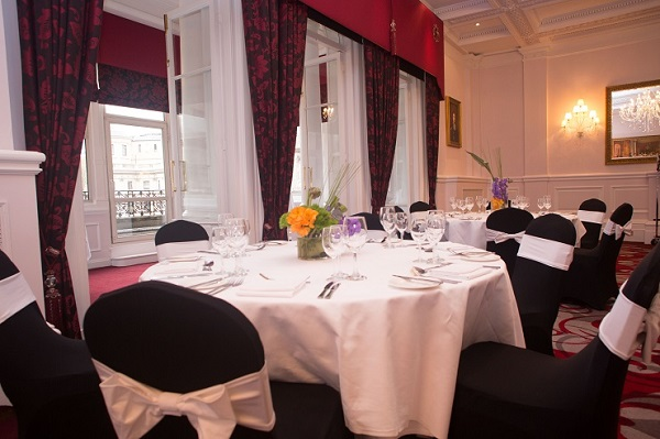 Amba Hotel Charing Cross Venue Hire WC2- Canterbury suite dressed for a delegate lunch