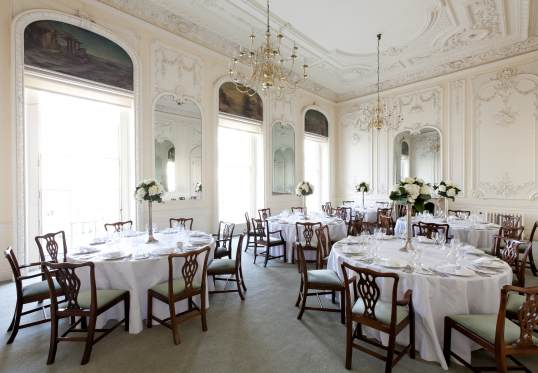 10 - 11 Carlton House Terrace Venue Hire SW1. set up for private dining cabaret style