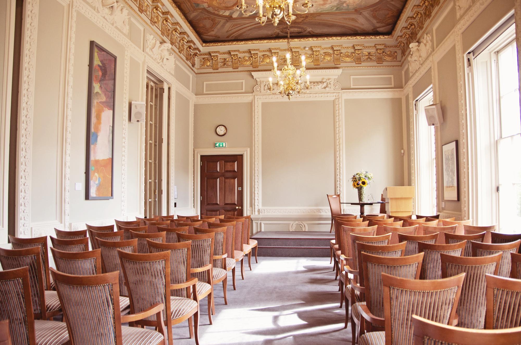 10 - 11 Carlton House Terrace Venue Hire SW1. Private room set up theatre style