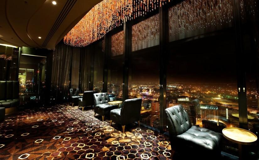 Zeus Lounge with floor to ceiling windows Cloud 23 Venue Hire M3