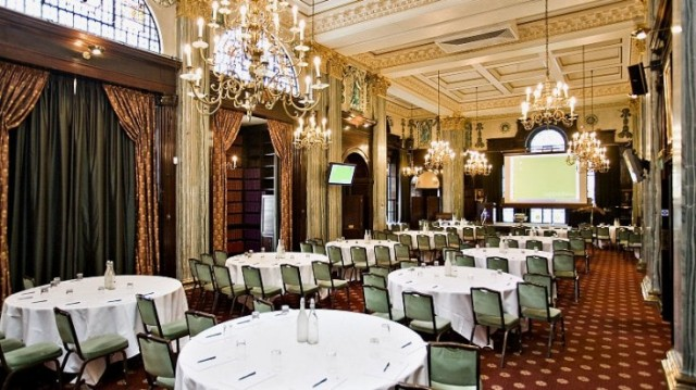 Common Room round table layout in caberat style Law Society Venue Hire WC2