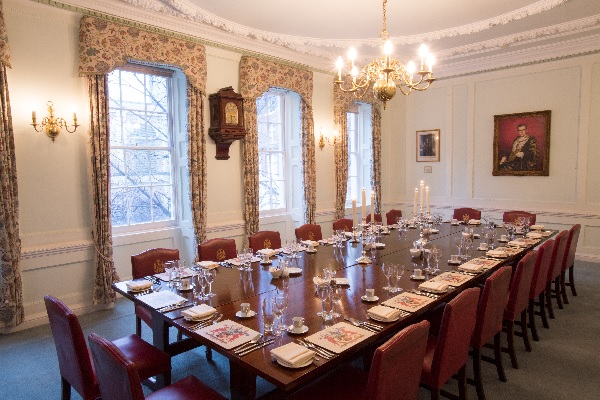 Dining Room boardroom style dinner Cooper's Hall Venue Hire EC2