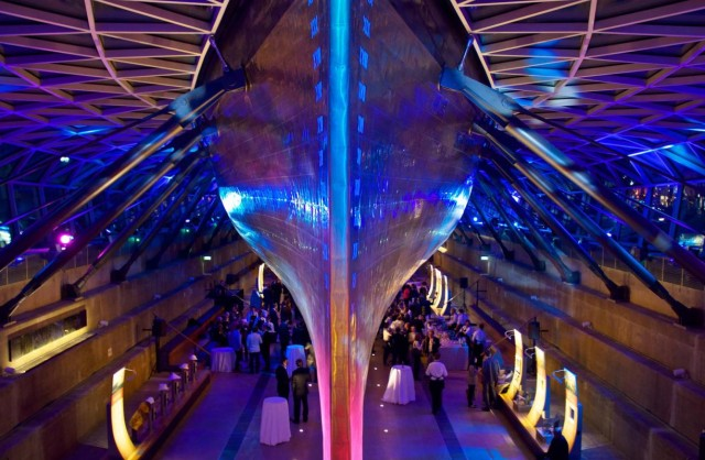 Cutty Sark Christmas Venue Hire SE10, reception drinks, uplighting, poser tables