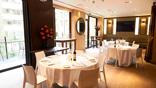 Devonshire Terrace Christmas Party EC2, private room, can be used for christmas lunches and dinners