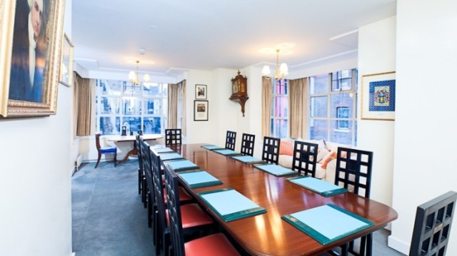 Boardroom Set up Masters and Clerks Founder's Hall Venue Hire EC1