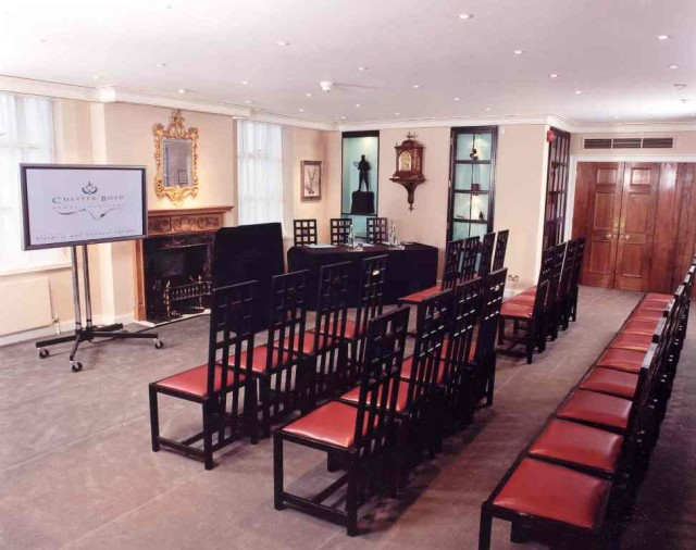 Parlour Room theatre style with screen Founder's Hall Venue Hire EC1
