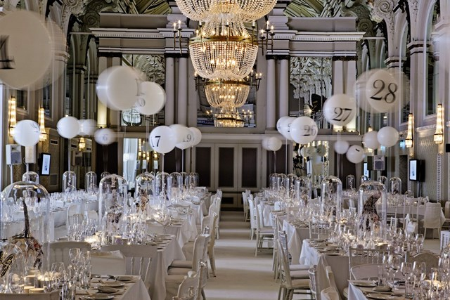 Grand Connaught Rooms Venue Hire WC2, private dining set up classroom