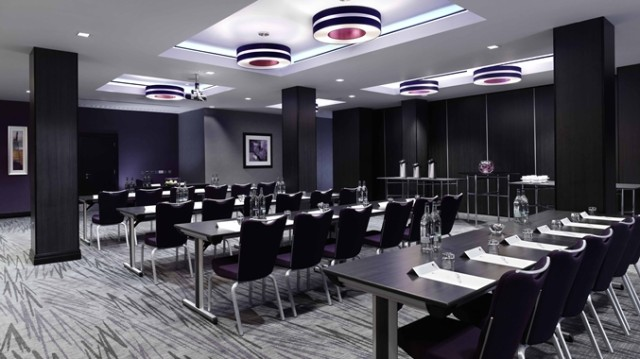DoubleTree West End Venue Hire WC1, theatre style set up, large screen
