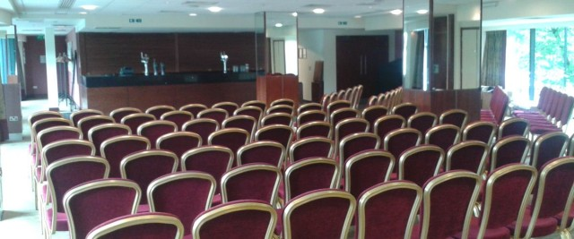 Piccadilly Suite set out in theatre style with private bar Macdonald Manchester Hotel Venue Hire M1