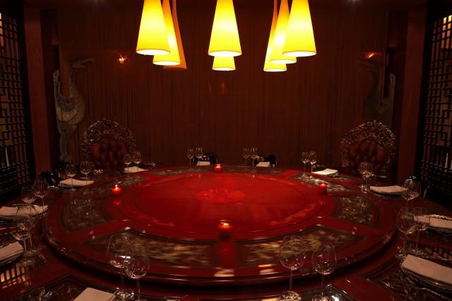 Maharaja Table Vermilion and Cinnabar M40