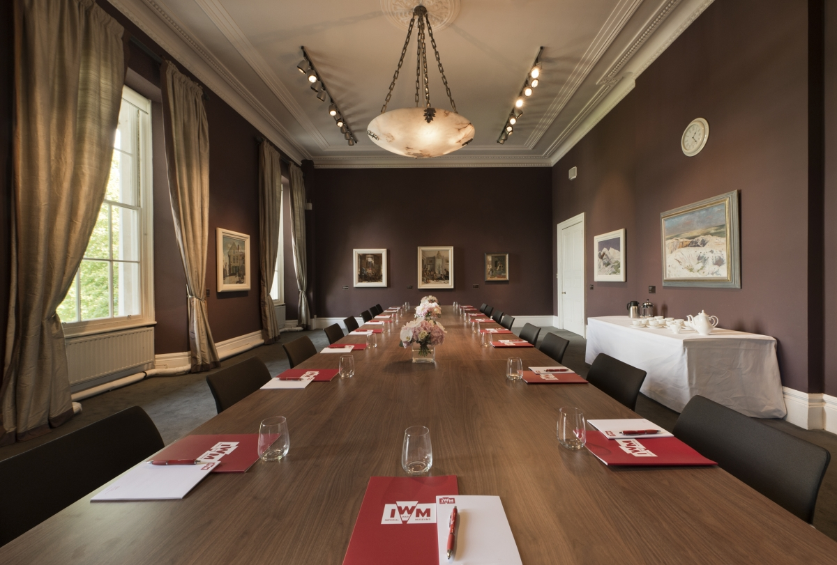 Imperial War Museum Venue Hire SE1, private room set up board room