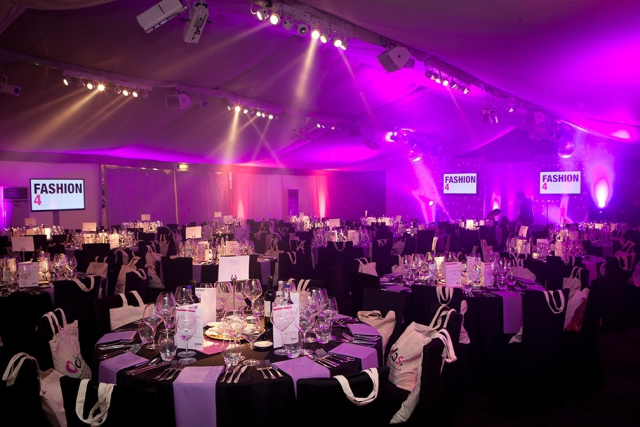 Conservatory at Painshill Venue Hire KT11, corporate dinner, large round tables, giftbags