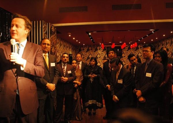 David Cameron making a speak at Vermilion and Cinnabar M40