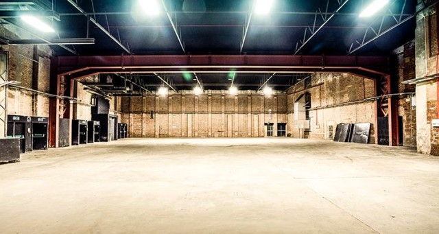 Large open space in Room 1 Victoria Warehouse Hotel M17