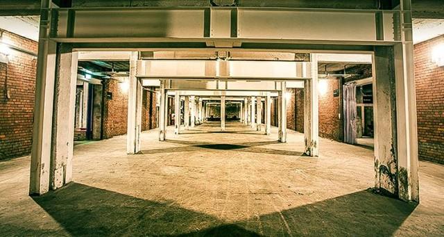 Open empty space in Room 2 Victoria Warehouse Hotel M17