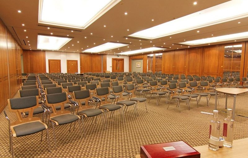 Ambassadors Bloomsbury Venue Hire WC1, venue set up for conference in theatre style