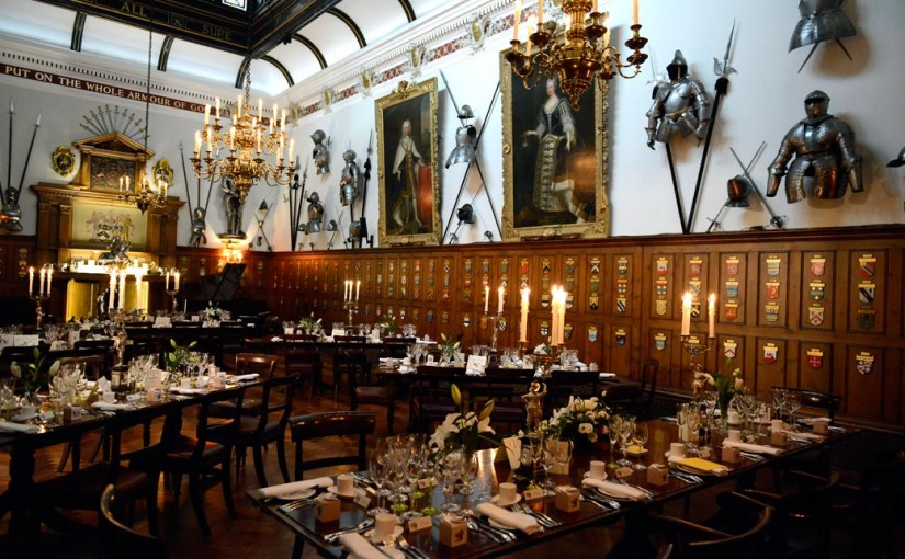 Armourers Hall Christmas Party EC2, seated dinner, unique venue