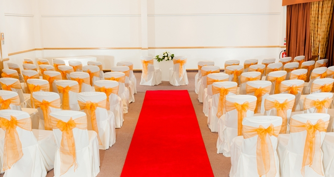Hilton Bristol Venue Hire BS3, wedding set up