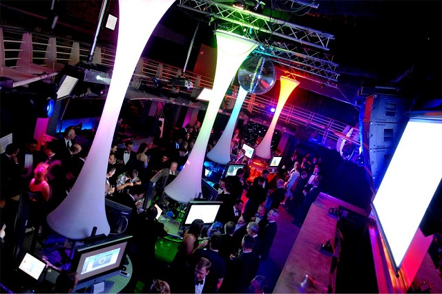 Standing conference room with plasma spread around venue. Ministry Of Sound Venue Hire SE1
