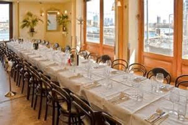 Browns Butlers Wharf Venue Hire SE1. Private dining room with long table set up for meeting.