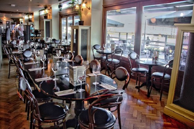 Browns Butlers Wharf Venue Hire SE1. Seating area for diners