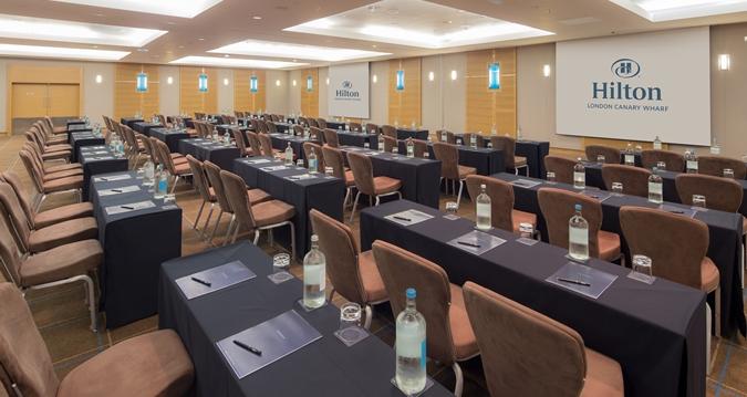 Hilton Canary Wharf Venue Hire E14, conference style set up