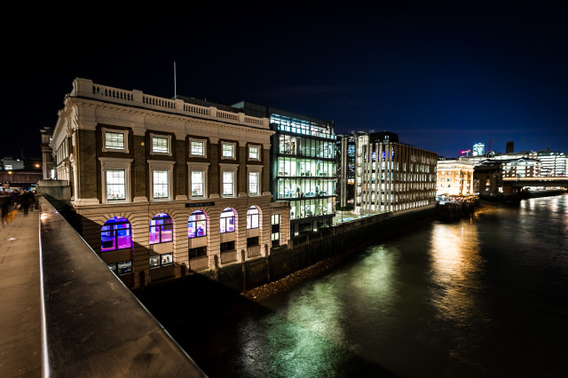 Glaziers Hall Christmas Party SE1, venue exterior, stunning christmas party venue, river views, set on the Southbank