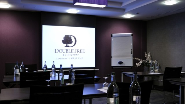 DoubleTree West End Venue Hire WC1, smaller meeting room, screen and projector
