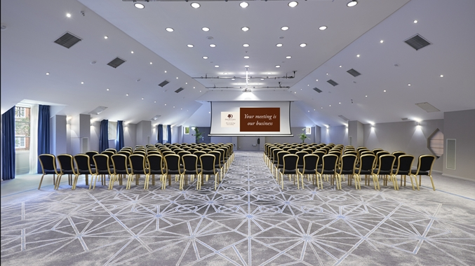 DoubleTree By Hilton Docklands Venue Hire SE16, conference set up in large room
