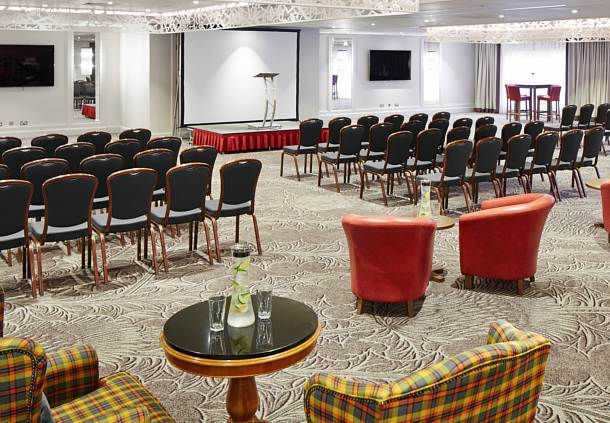 Dalmahoy Hotel and Country Club Venue Hire EH27, conference room, theatre style seating, large screen, av