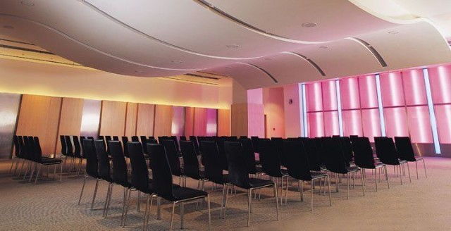 Cumberland Hotel Venue Hire W1, theatre style seating, large meeting room, colour wash