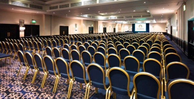 Tower Suite set up in theatre style for a conference Bridge Suites Tower Hotel Venue Hire E1