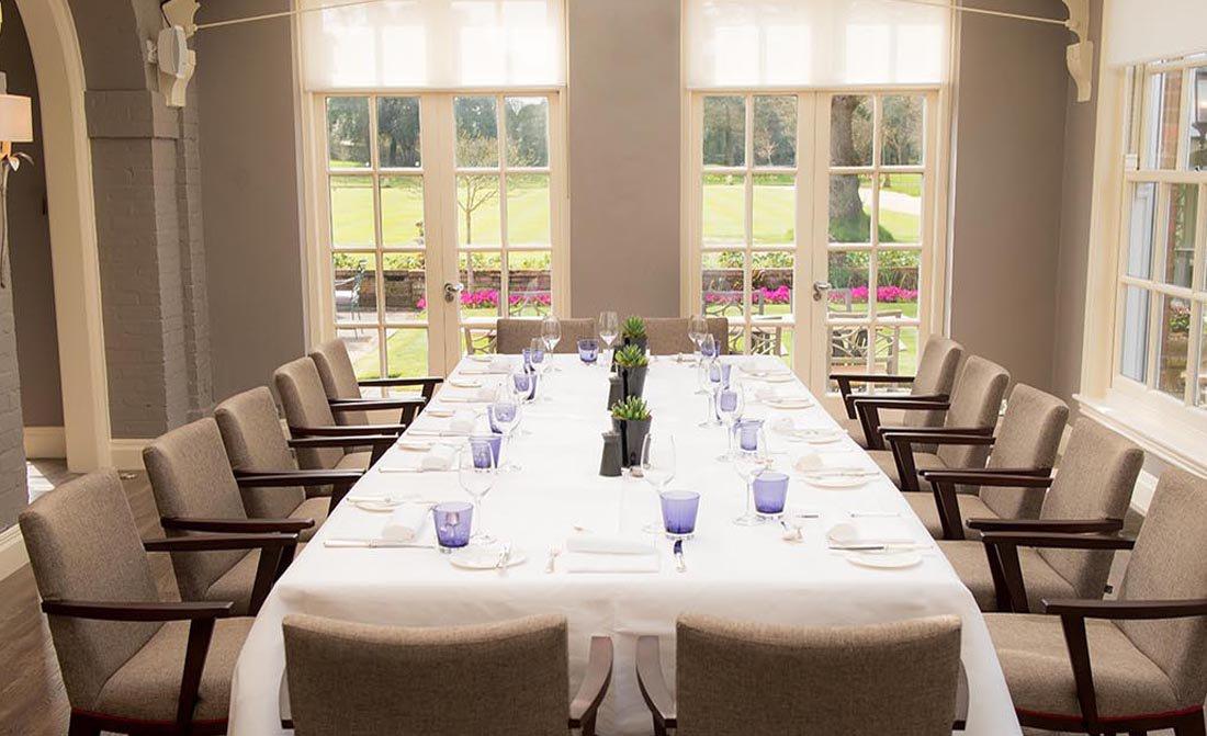 Chewton Glen Hotel Venue Hire BH2 boardroom style with views