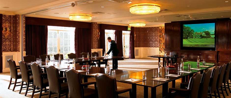 Chewton Glen Hotel Venue Hire BH2, venue set up u-shape for conference