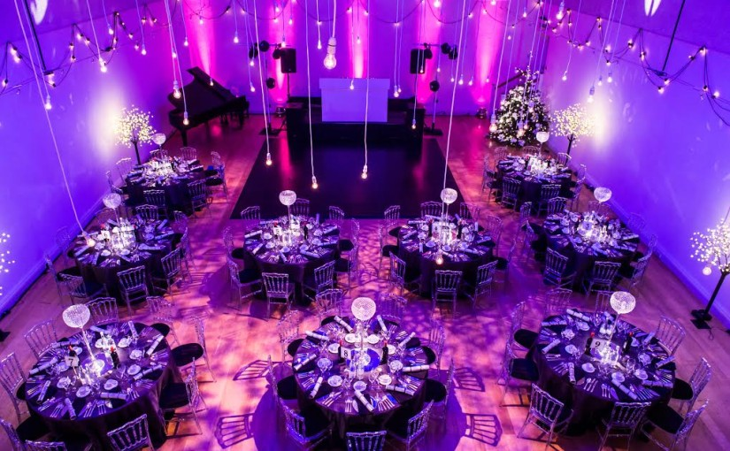 Hellenic Centre London Venue Hire W1, hall set up for large dinner dance