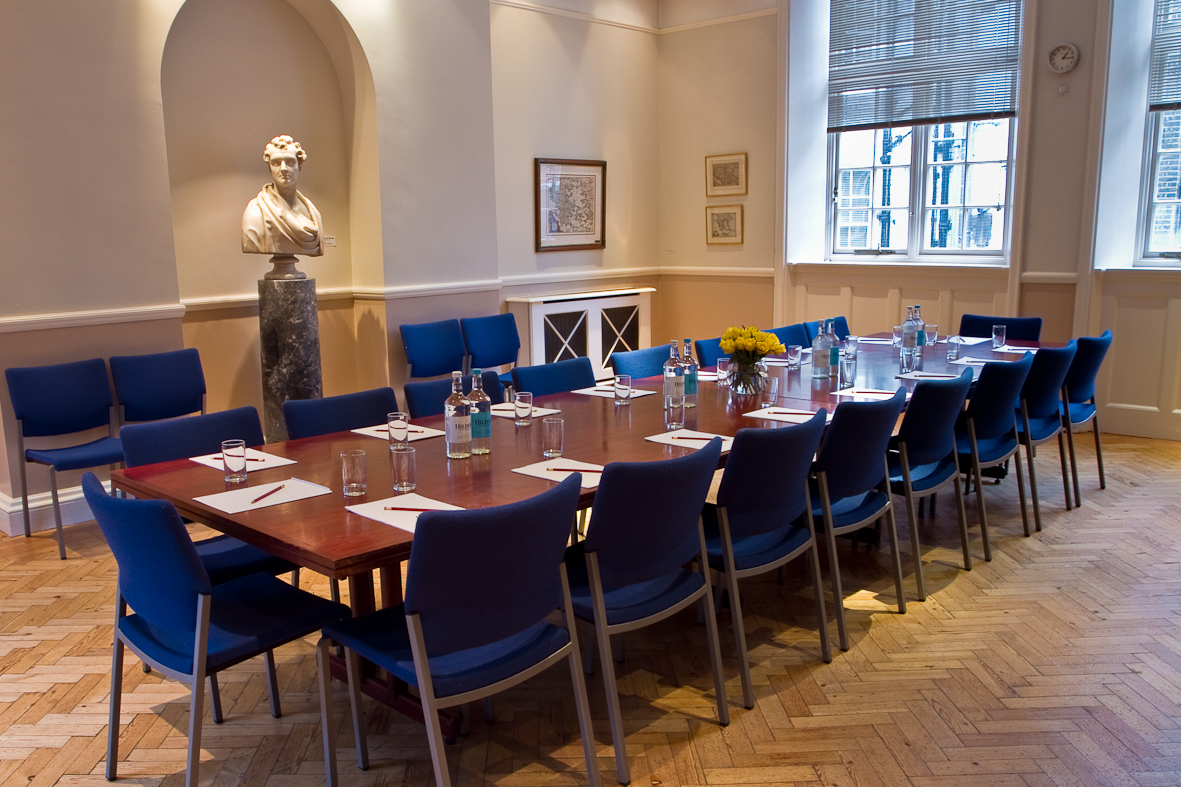 Hellenic Centre London Venue Hire W1, private room set up board room style