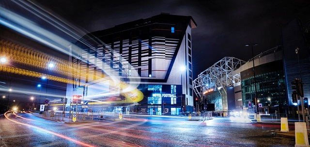 Exterior view Hotel Football Manchester Christmas Party M16