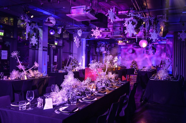 banquet layout in the stadium suite Hotel Football Manchester Christmas Party M16