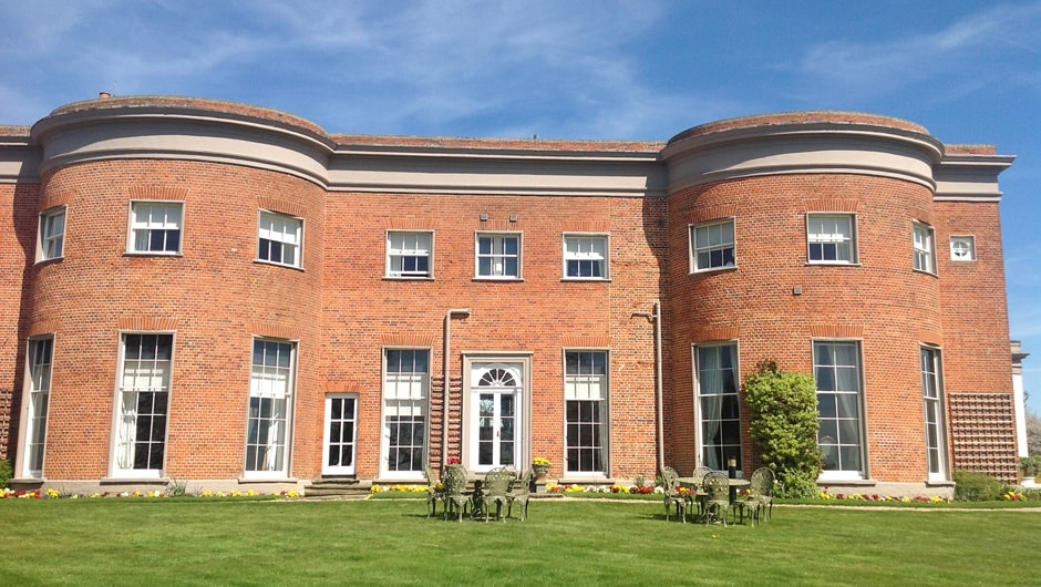 Highfield Park Christmas Party RG2, large red brick building