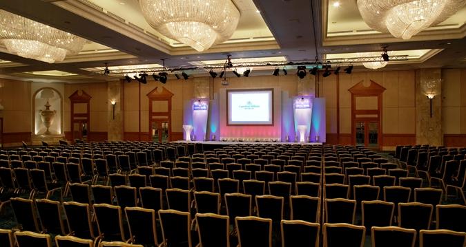 Hilton London Park Lane Venue Hire W1, conference style set up