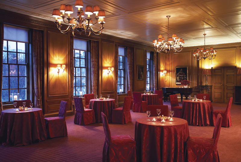 Inner Temple Christmas Party EC4, private room set up for private dining