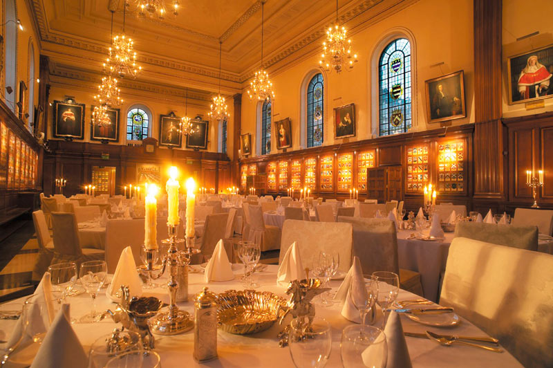 Inner Temple Christmas Party EC4, set up for private dining
